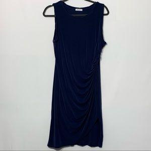 Mod Ref Simone Ruched Navy Tank Dress